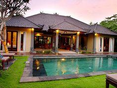 "Villa D& Bali designed by Australian designer Dean Kempnich, villa d& truly refines the word ""Bali Modern"". Bali Architecture, Tropical Architecture, Residential Architecture, Bali Style Home, Balinese Villa, Bali Garden, Bali House, Ranch Style Homes, Tropical Houses"