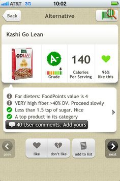 Fooducate. Scan groceries and the app tells you what grade the item gets and why based on how healthy it is. Free