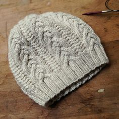 Textured hat for extra warmth: karentempler's gentian, pattern by Irina Dmitrieva from BT Wool People Vol. 6
