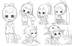Chibi anime drawing manga easy drawing at free for personal use how to draw anime girl Kawaii Chibi, Cute Chibi, Anime Chibi, Manga Anime, Anime Art, Art Manga, Manga Drawing, Drawing Sketches, Chibi Drawing