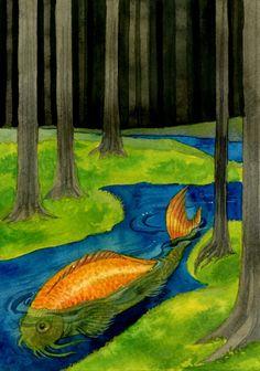 Koi, ink and watercolour, 2012 Renee Nault