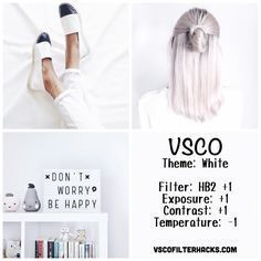 White Instagram Feed Using VSCO Filter HB2 More More