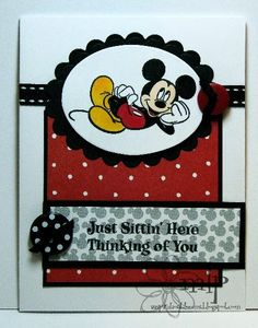 >>Inspiration Blooms: Mickey Mouse Cards!