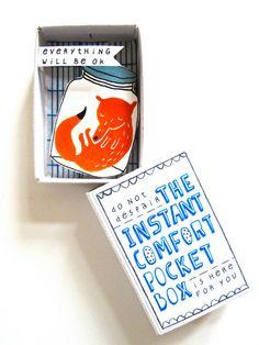 The Instant Comfort Pocket Box sleeping fox