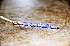 Tanzanite Crystal Necklace Empath Protection by CrystalMinded