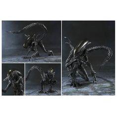Alien vs Predator Alien Warrior SH MonsterArts Die Cast Metal Figure