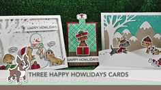 2016  VIDEO 3 CARDS USING THE Happy Howlidays STAMPtember® 2016 Lawn Fawn Exclusive Inspiration with Kelly Marie Alvarez