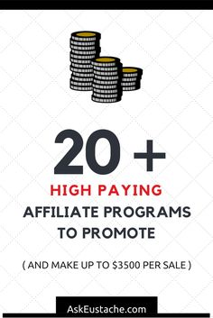 Top and high paying affiliate programs to work with and increase your online income! Find high converting landing page affiliate programs paying up to $3500 per sale! read more >> http://askeustache.com/high-paying-affiliate-programs/