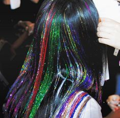 Hair Extensions - Caring For Your Hair: Strategies For Ideal Results Crazy Hair, Big Hair, Crazy Crazy, Cabelo Inspo, Pelo Multicolor, Hair Tinsel, Eye Makeup, Hair Makeup, Fairy Hair