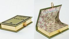 Make your own purse from an old book.  DIY: A green version of Natalie Portman's clutch | MNN - Mother Nature Network