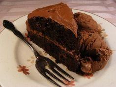 Rich and Creamy Chocolate Frosting from Toll House - quick easy and I always have all the ingredients.