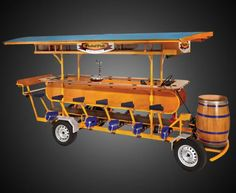 Meeting + fresh air+ exercise + beer = the perfect corporate productivity investment. Food Cart Design, Food Truck Design, Beer Brewing, Home Brewing, Bike Food, Food Truck Business, Food Trailer, Mobile Shop, Pub Crawl