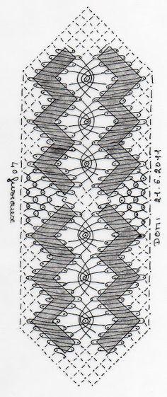 LES DENTELLIERES DE FRANCHEVILLE: 7ème CARTON 2017 Crochet Edging Patterns, Bobbin Lace Patterns, Shawl Crochet, Tattoo Dentelle, Bobbin Lacemaking, Lace Heart, Lace Jewelry, How To Purl Knit, Lace Making
