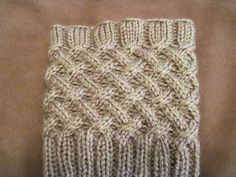 Ravelry: Free Cabled Boot Topper pattern by Anna Templer