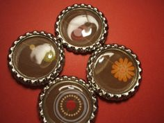 I love these great magnets! Brown Floral, Magnets, My Etsy Shop, Candles, Silver, How To Make, Handmade, Stuff To Buy, Money