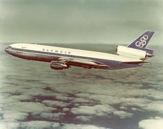 Olympic Airways DC-10 Douglas Aircraft airbrushed photo for promotional purposes