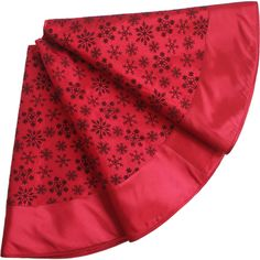 SORRENTO Extra Large 50' Flocking Red ColorChristmas Tree Skirt Snowflake Design Tree Skirt-50' *** Amazing product just a click away  : Garden Christmas Decorations