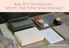 Are DIY Wedding Invitations Worth It? See how much we spent on our DIY invitations and decide if it's worth your time and energy. {A Handcrafted Wedding} #invitations #DIY #wedding