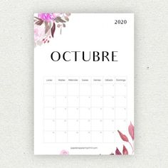 Calendario para imprimir 2020 - Papelería para Imprimir Bullet Journal School, Bullet Journal Inspo, Diy Agenda, Planning Calendar, Bullet Journal Printables, Diy Gifts For Him, Print Calendar, Ideas Para Fiestas, Printable Planner