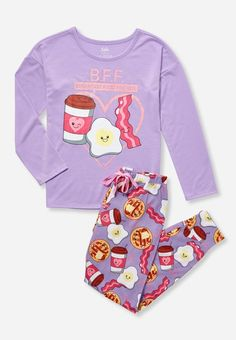 Find the latest in colorful and comfy sleepwear sets for girls at Justice! Shop cute pajamas in tons of fun prints and designs to match her individual style with our collection of sleepwear tops, bottoms, onesies and more. Girls Summer Outfits, Cute Girl Outfits, Kids Outfits, Cool Outfits, Summer Clothes, Trendy Outfits, Winter Clothes, Girls Fall Fashion, Tween Fashion