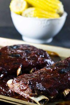 Costelinha com molho barbecue (igual do Outback e Applebee's) - Malas e Panelas Quiche, Steak, Easy Meals, Beef, Recipes, Food, Pernil, One Pot Dinners, Snacks