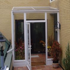 Porch enclosure with roof