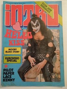 Vintage Demon Cover  Intro Magazine May 1975/Finland  Cover photo is from the Playboy Building Photo session in Los Angeles, California, January 16, 1975 by photographer Richard Creamer.