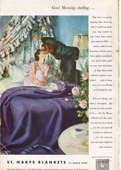 Vintage blanket ad (1950s)