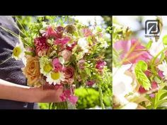Bridal bouquet bohemian style How to make - YouTube