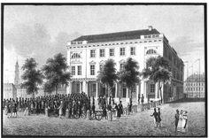 Berlin 1820 Das aeltere Gebaeude der Berliner Boerse am Lustgarten (erbaut 1800-1802)