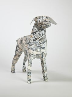 London Map Gerald the Dog by David Ryan Robinson