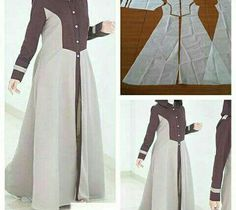New dress pattern sewing women tutorials Ideas Long Dress Patterns, New Dress Pattern, Skirt Patterns Sewing, Clothing Patterns, Pattern Sewing, Batik Fashion, Fashion Sewing, Muslim Fashion, Hijab Fashion