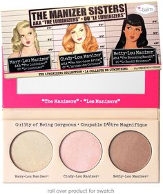 the Balm Cosmetics The Manizer Sisters Palette