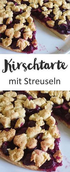 Kirschtarte mit Streuseln, Kirschkuchen, Streuselkuchen, Rezept | Weight Watchers
