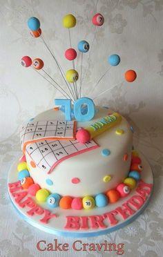 bingo cake - Cake by Hayley
