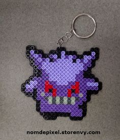 Gengar Pokemon Perler Keychain! This mouth even glows in the dark.