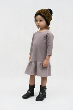 Girl Fashion - Dress with frill by The Same http://www.thesame.eu