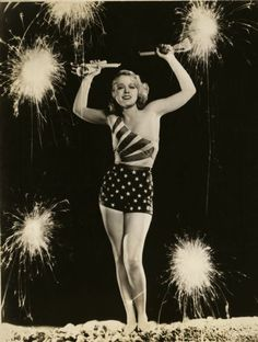 4th of July pin up and she looks normal and not almost anorexic