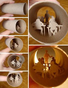 Pinterest Recycled Crafts | Creative art from toilet paper roll | PAPERISE 2012