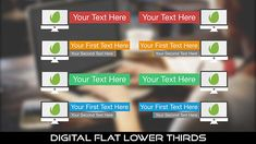 Buy Digital Flat Lower Thirds by MondayMotion on VideoHive. Positive Backgrounds, Lower Thirds, 10 Seconds, Caption, Blue Green, Mac, Love You, Positivity, Content