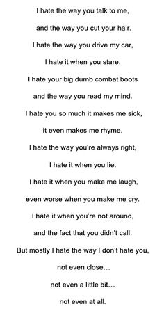 From the film 10 Things I Hate About You. The poem Kat Stratford (Julia Stiles) reads in her English class, directed at Patrick Verona (Heath Ledger). The film was adapted from one of Shakespeare's most controversial plays, The Taming of the Shrew.