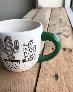 Mug Thanks to everyone has already pre-ordered our Hidden Cactus Mug! We are blown away by the response thus far! Thank you all for the continued support. Cute Coffee Mugs, Cool Mugs, Coffee Cups, Coffee Maker, Painted Mugs, Hand Painted Ceramics, Pottery Painting, Ceramic Painting, Diy Becher