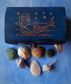 Beautiful small treasure chest.30 pieces, Natural sea finds, Shells . Sea glass, Pottery. Wishing Stones, Quartz Stone, Treasure Chest, Sea Glass, I Shop, Shells, Great Gifts, Finding Yourself, Miniatures
