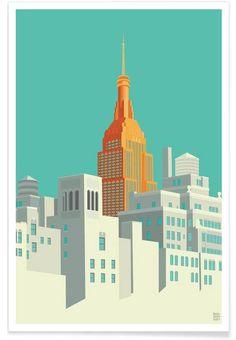 View from the High Line New York City en Affiche premium par Remko Heemskerk   JUNIQE