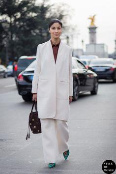 Paris Fashion Week FW 2015 Street Style: Caroline Issa - STYLE DU MONDE   Street Style Street Fashion Photos