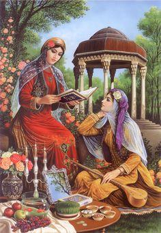 گشت گرداگرد مهر تابناک ، ایران زمین روز نو آمد و شد شادی برون زندر کمین ای تو یزدان ، ای تو گرداننده مهر و سپهر برترینش کن برایم این زمان و این زمین Happy Norooz