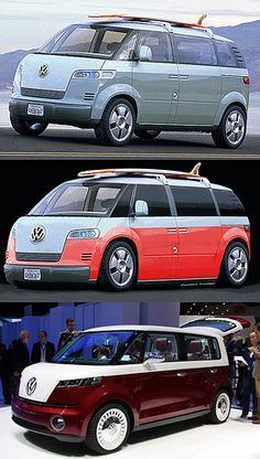 New VW Microbus - Before and After Photoshop Volkswagen Transporter, Volkswagen Bus, Vw Camper, Combi Ww, Before And After Photoshop, E Mobility, Vw Scirocco, Gas Monkey Garage, Vw Cars