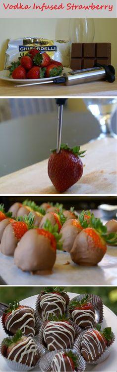 Vodka Infused Strawberry Chocolate Cups Recipe By Cupcakepedia, cup cake, strawberry, vodka, liquer, dessert, chocolate