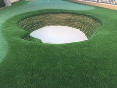 Stacked Sod bunker in Scottsdale AZ Golf Putting Green, Backyard Putting Green, Golf Green, Outdoor Play, Outdoor Living, Outdoor Ideas, Golf Room, Backyard Landscaping, Backyard Ideas