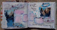 Double page d'agenda réalisée par Annabel DT ISDesign http://infinimentblog.canalblog.com/archives/2015/03/01/31603723.html